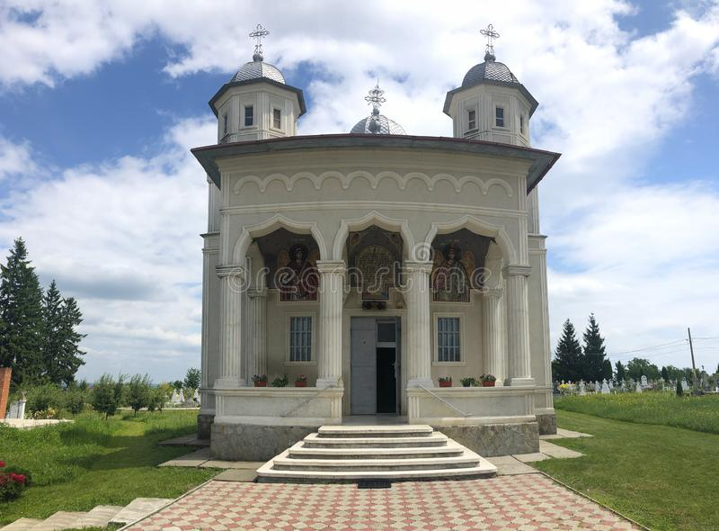 Chiesa di Ortodox, dal distretto di Neamt, la Romania immagine stock libera da diritti
