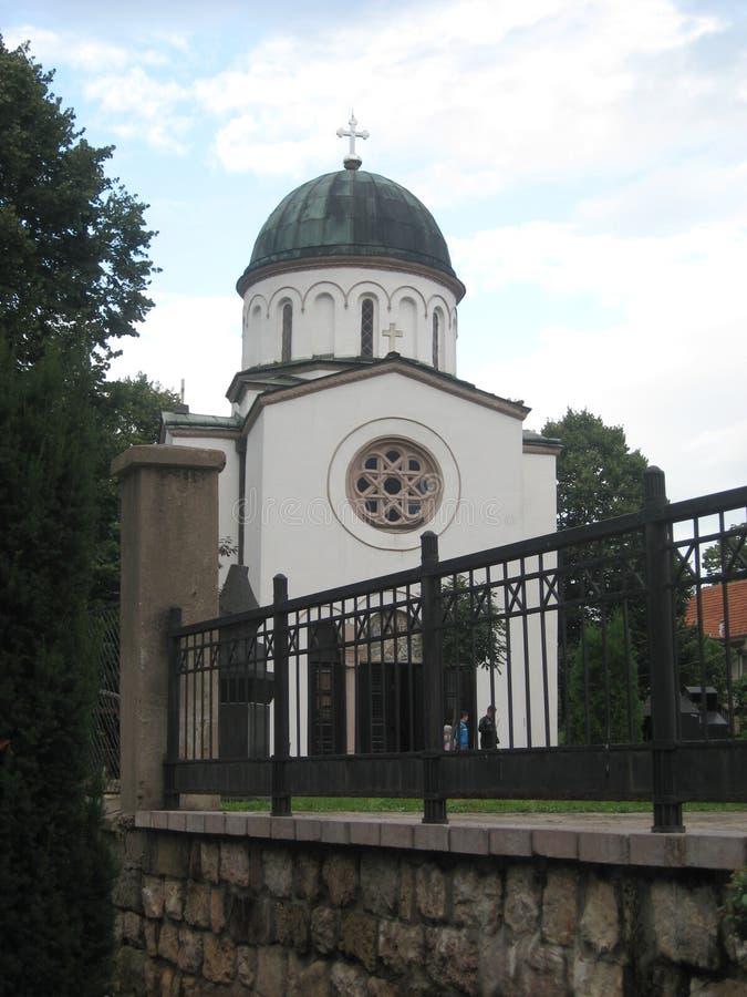 Chiesa di Ortodox, Lord Jesus Christ, Stazione termale di Sokobanja, Serbia fotografia stock libera da diritti