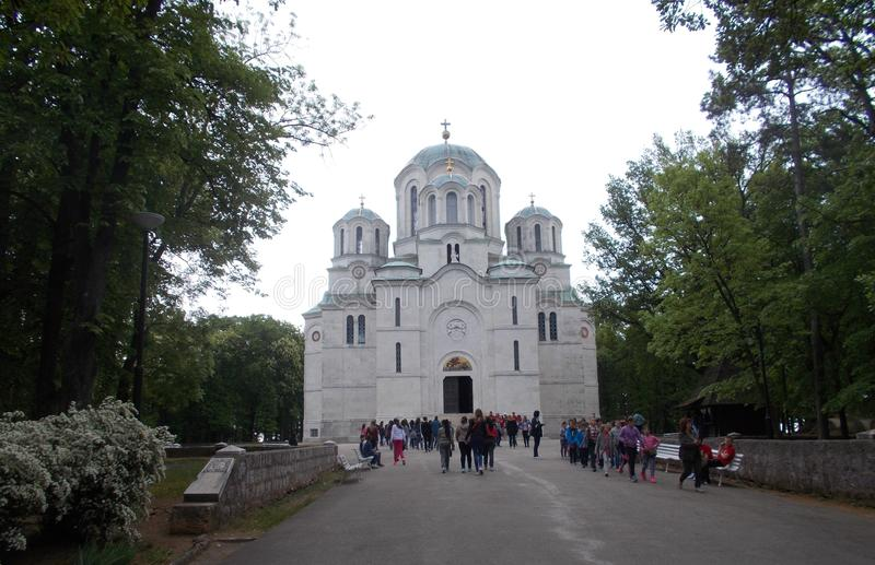 Chiesa di Ortodox in Serbia fotografia stock