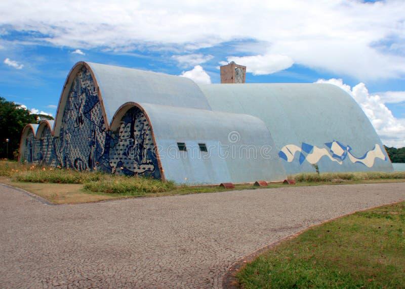 Chiesa di Pampulha immagine stock