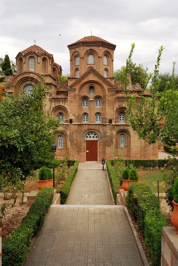 Chiesa di Panagia Chalkeon a Salonicco, Grecia fotografia stock libera da diritti