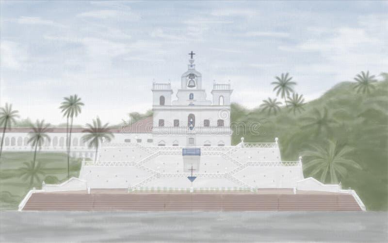 Chiesa di Panjim fotografia stock libera da diritti