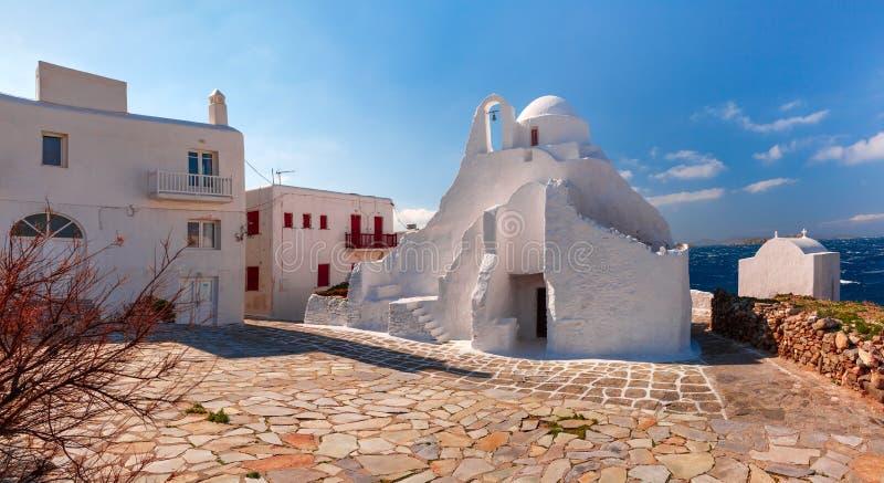 Chiesa di Paraportiani sull'isola Mykonos, Grecia immagine stock libera da diritti
