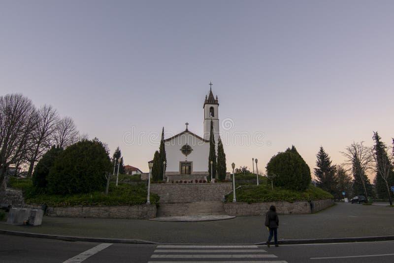 Chiesa di Paredes de Coura nella regione di Norte, Portogallo immagine stock
