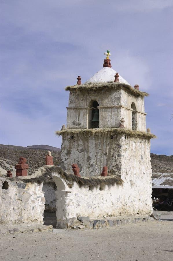 Chiesa di Parinacota, Cile immagini stock