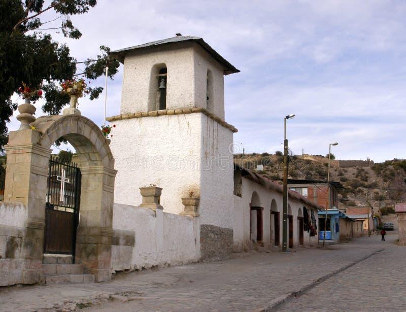 Chiesa di Parinacota, Cile fotografie stock libere da diritti