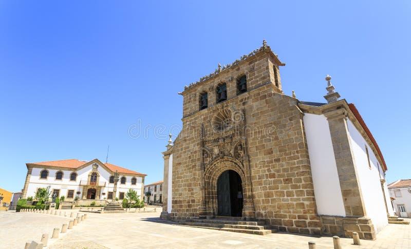"""Chiesa di parrocchia del †di Vila Nova de Foz Coa """" immagine stock libera da diritti"""