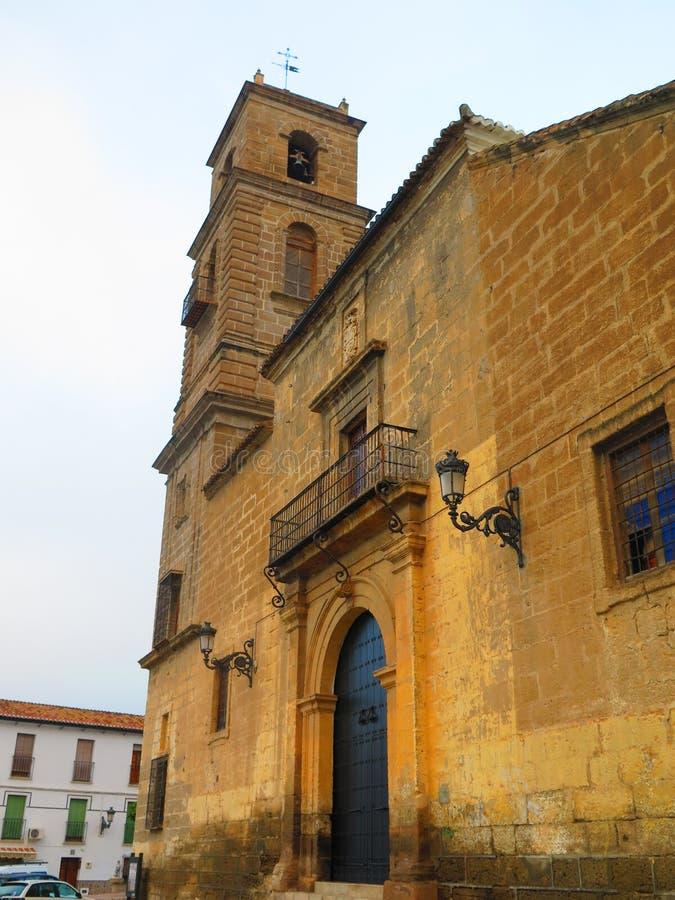 Chiesa di parrocchia di Alora fotografia stock