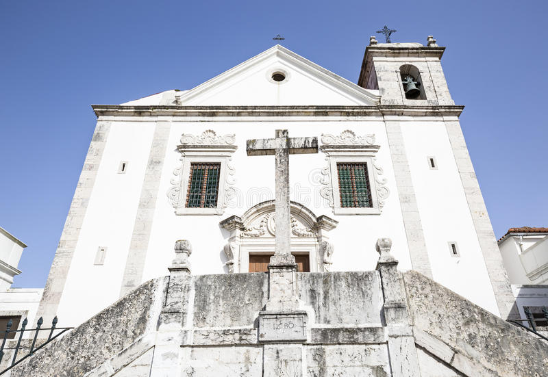 Chiesa di parrocchia di SantÃssimo Nome de Gesù in Odivelas, Lisbona, fotografia stock