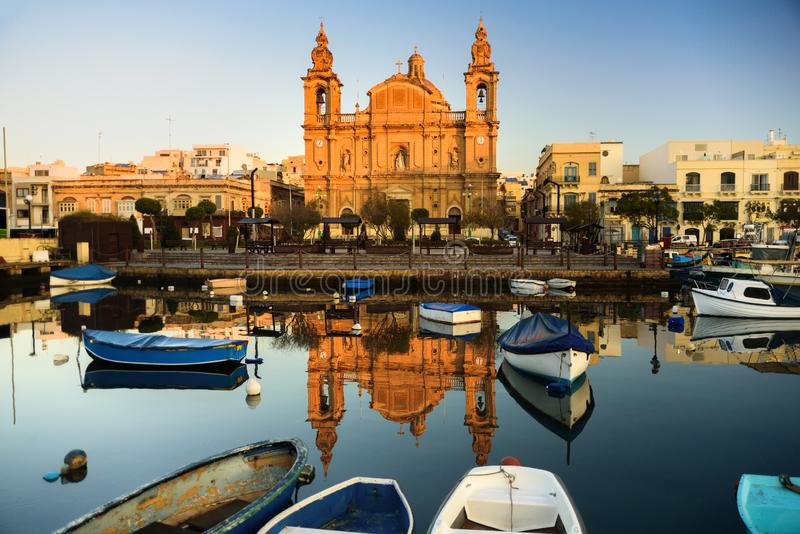 Chiesa di parrocchia di Msida, Malta fotografia stock libera da diritti