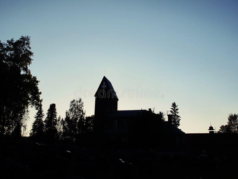 Chiesa di Pirkkala immagini stock libere da diritti