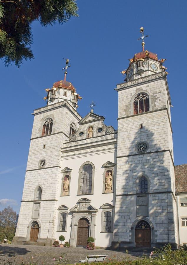 Chiesa di Rheinau fotografie stock libere da diritti