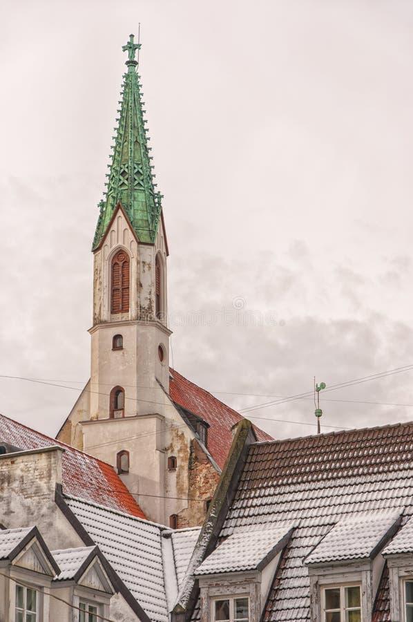 Chiesa di Riga St Johns fotografie stock