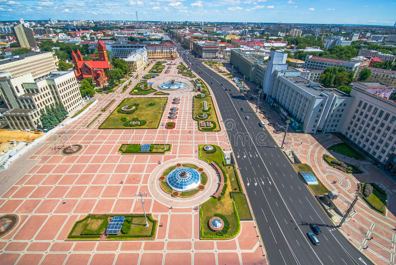 Chiesa di rosso di Minsk, Bielorussia immagini stock