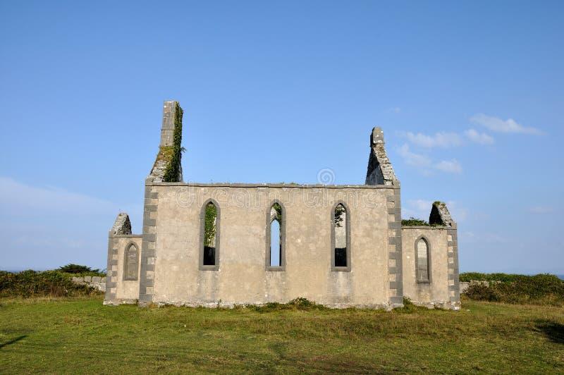 Chiesa di rovina dell'isola dell'Irlanda Aran immagine stock libera da diritti