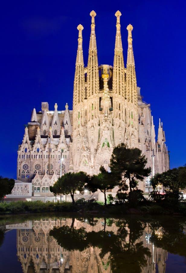 Chiesa di Sagrada Familia a Barcellona, Spagna immagini stock libere da diritti