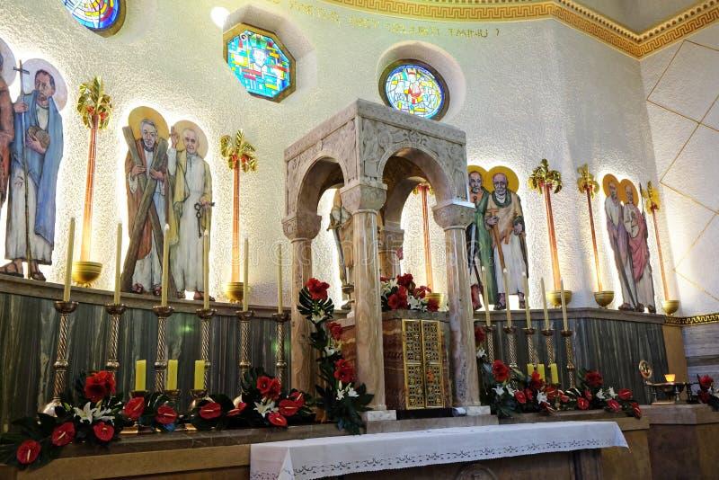Chiesa di Saint Blaise a Zagabria fotografia stock libera da diritti