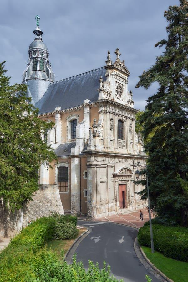 Chiesa di Saint Vincent a Blois, Francia fotografie stock libere da diritti