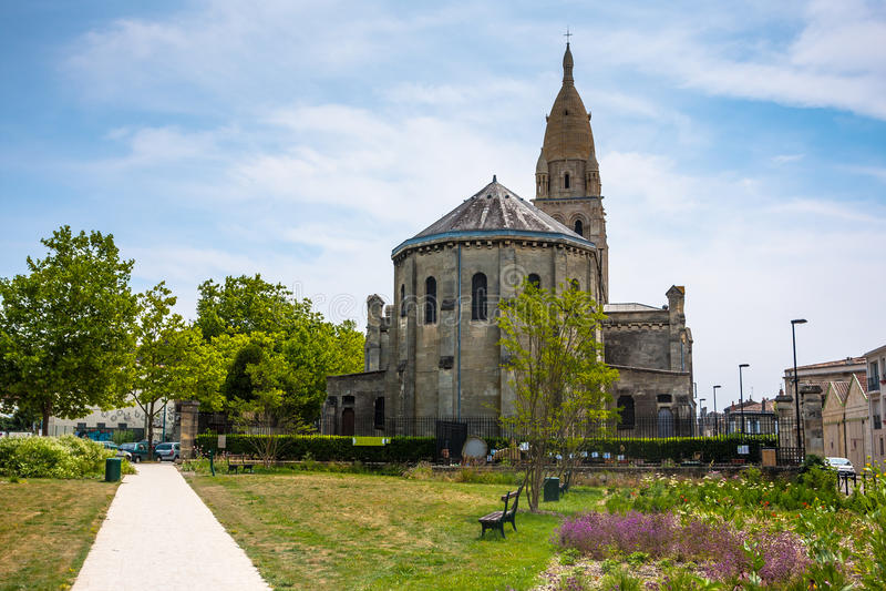 Chiesa di Sainte Marie de la bastide in Bordeaux immagini stock libere da diritti