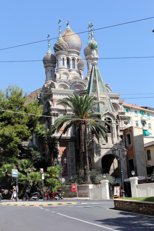 Chiesa di San Basilio in San Remo, Italia immagine stock libera da diritti