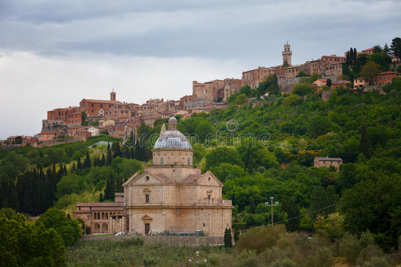 Chiesa di San Biagio church in Montepulciano. Tuscany, Italy stock image