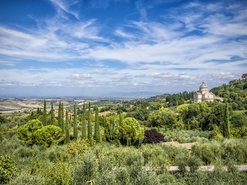 Chiesa di San Biagio. Image of Chesa di San Biagio near Montepulciano Tuscany Italy stock photos