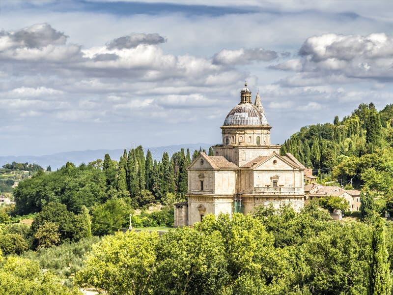 Chiesa di San Biagio. Image of Chesa di San Biagio near Montepulciano Tuscany Italy royalty free stock photos