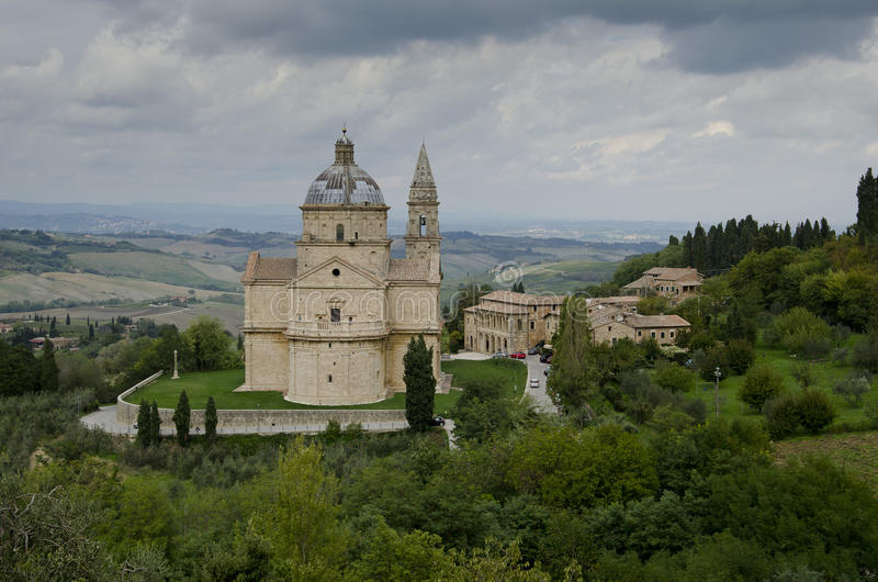 Chiesa di San Biagio. Located at the bottom of the hill, in Montepulciano suburb stock image