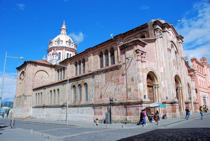 Chiesa di San Blas - Cuenca – l'Ecuador fotografia stock libera da diritti