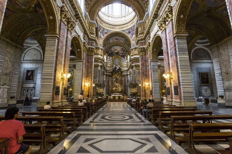 Chiesa di san carlo al corso roma italia immagine stock for Corso arredatore d interni roma