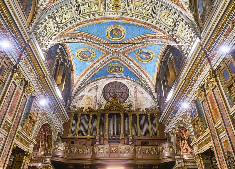 Chiesa di San Carlo Borromeo Church Turin, Piedmont, Italy imagem de stock