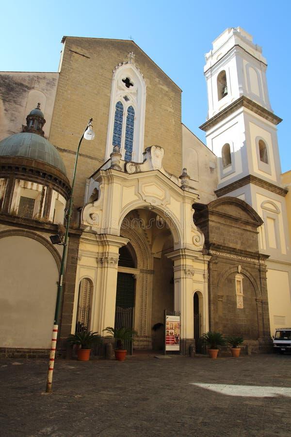 Chiesa di San Domenico Maggiore, Napoli stockbilder