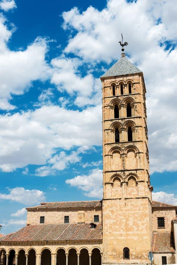 Chiesa di San Esteban a Segovia fotografia stock libera da diritti