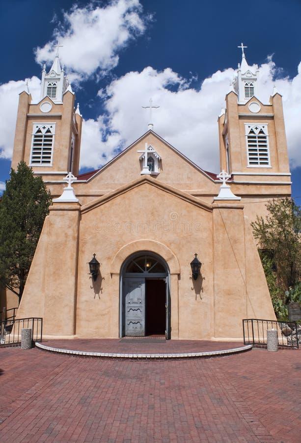 Chiesa di San Felipe a Albuquerque, New Mexico. fotografie stock libere da diritti