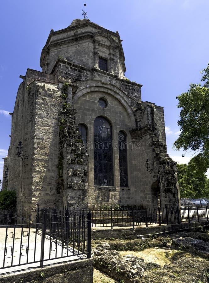 Chiesa di San Francisco de Paula/Iglesia de San Francisco de Paula a Avana, Cuba fotografia stock libera da diritti