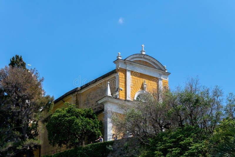 Chiesa Di San Giorgio, Portofino, Italië stock foto's