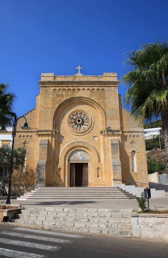 Chiesa di San Giuseppe, Santa Cesarea Terme, Italy. San Giuseppe church in Santa Cesarea Terme in the Italian Province of Lecce, Apulia royalty free stock photo