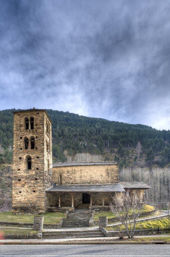 Chiesa di San Joan de Caselles - l'Andorra fotografia stock libera da diritti