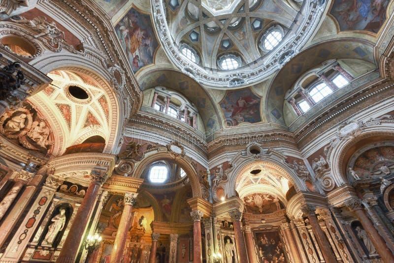 Chiesa di San Lorenzo, Torino, Italia immagine stock