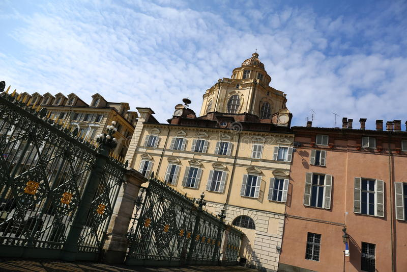 Chiesa di San Lorenzo, Torino, Italia fotografia stock libera da diritti