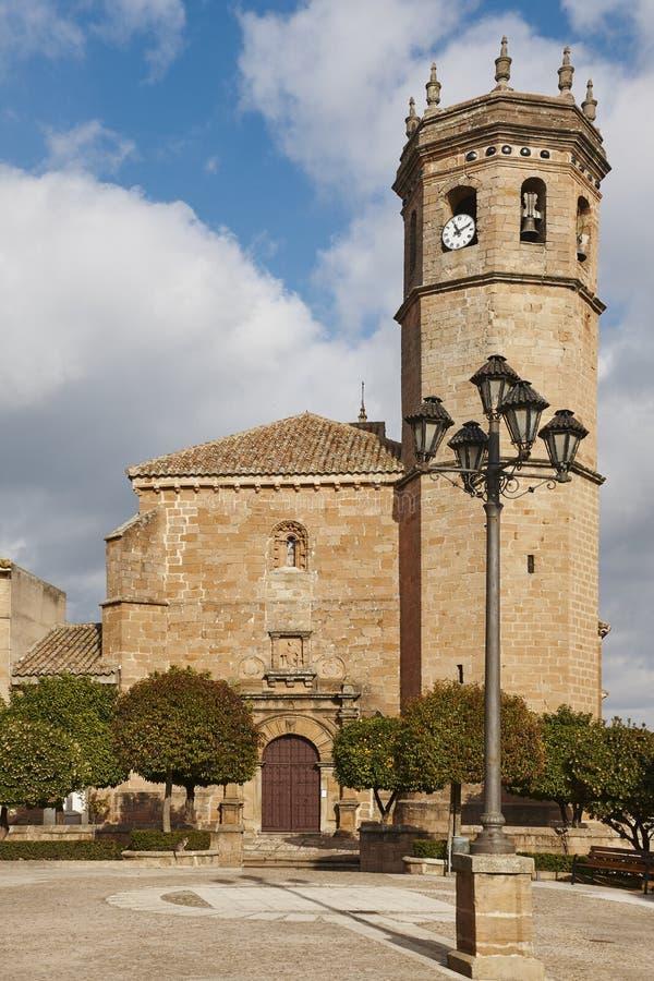 Chiesa di San Mateo in La Encina di Banos de Jaen, Andalusia immagini stock