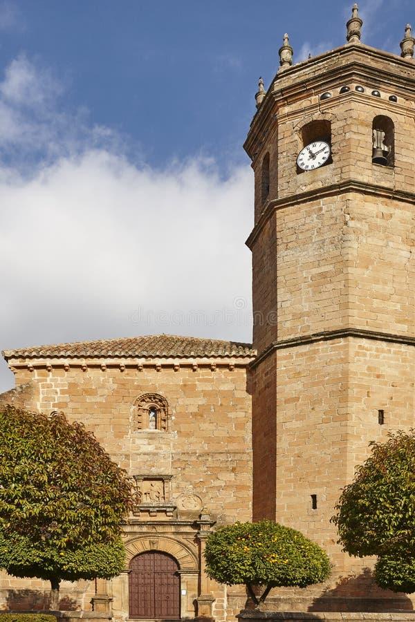 Chiesa di San Mateo in La Encina di Banos de Jaen, Andalusia immagini stock libere da diritti