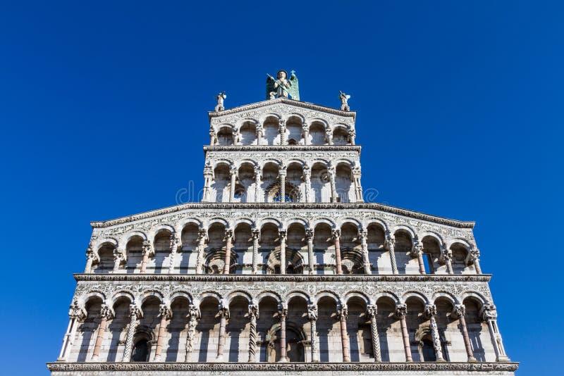 Chiesa di San Michele in foro a Lucca, Toscana, Italia immagini stock libere da diritti