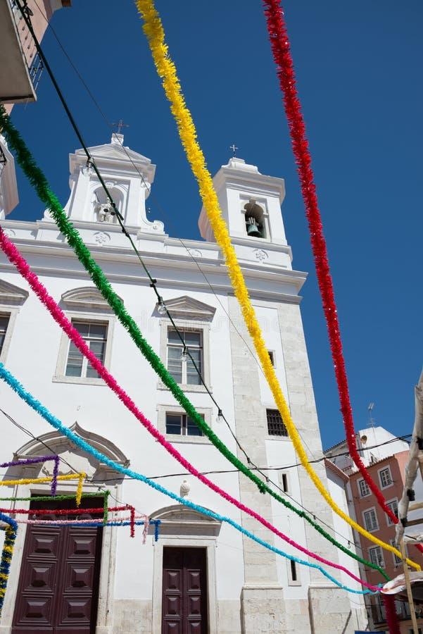 Chiesa di San Miguel a Lisbona, Portogallo fotografia stock