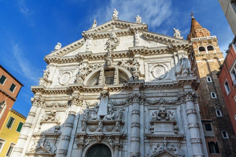 Chiesa di San Moise ist katholische Kirche Venedig Italien lizenzfreies stockbild