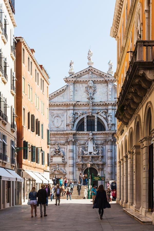 Chiesa di San Moise in Venedig-Stadt lizenzfreies stockbild