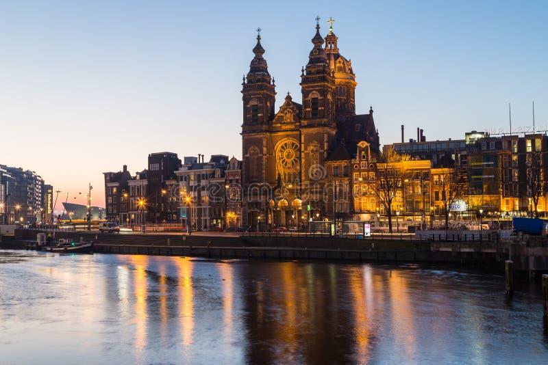 Chiesa di San Nicola a Amsterdam immagini stock libere da diritti