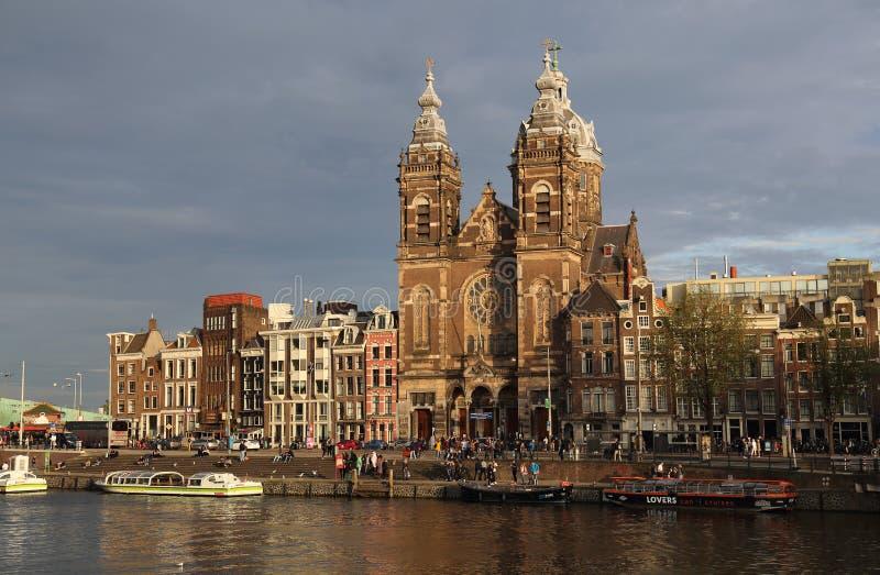 Chiesa di San Nicola a Amsterdam, Olanda fotografie stock