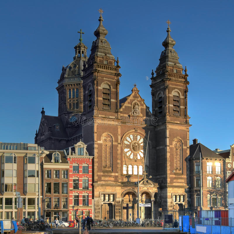 Chiesa di San Nicola a Amsterdam, Paesi Bassi immagine stock libera da diritti