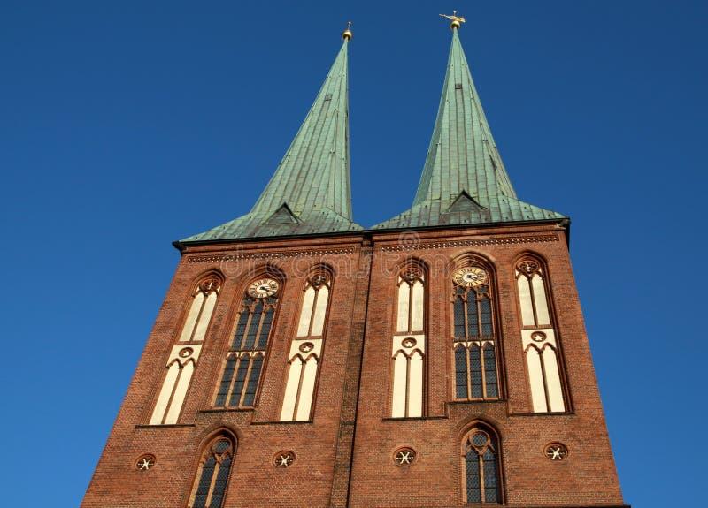 Chiesa di San Nicola, Berlino. fotografia stock libera da diritti